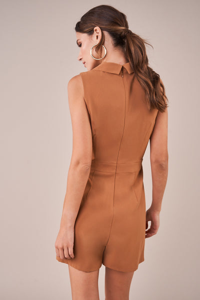 Camille Double Button Blazer Romper