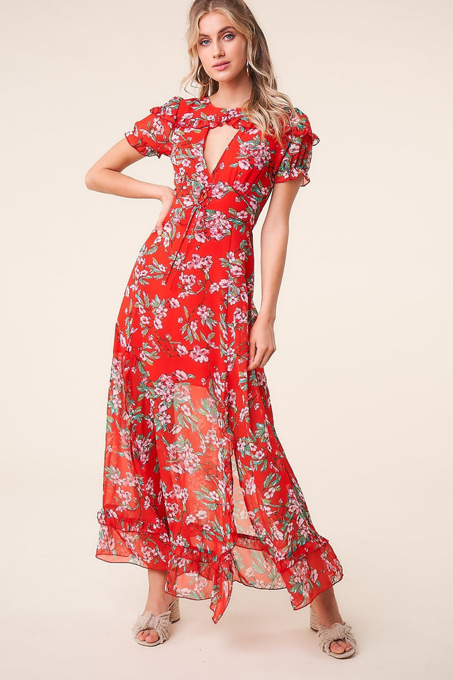 Rustic Rose Floral Maxi Dress- Final Sale