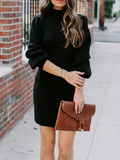One To Love Mock Neck Sweater Dress