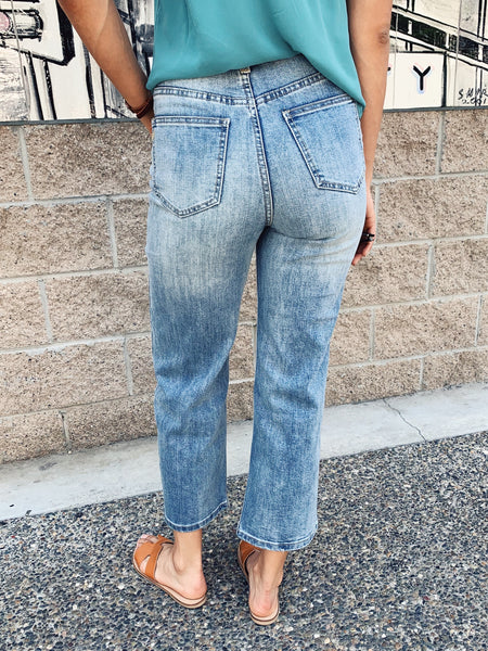 Kacey High Rise Button Fly Jeans