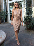 Better For It Draped Wrap Dress