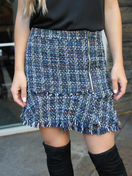 Middleton Frayed Tweed Mini Skirt