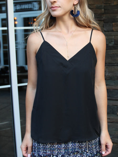 It's Just Simple Camisole Tank - Black
