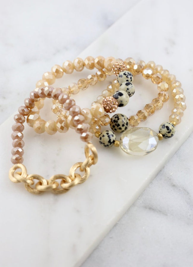 Natural Soul Beaded Bracelet Set
