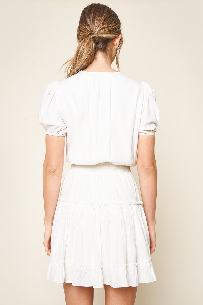 Becca Smocked White Dress