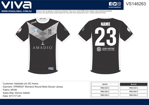 Adelaide University Soccer Club - Sublimated Soccer Uniform