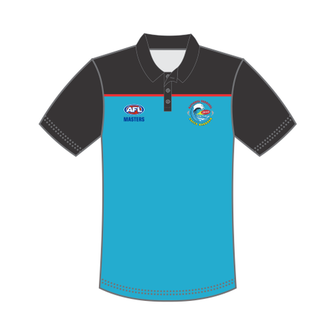 AFL Masters Men's Polo Shirt - Black Sky