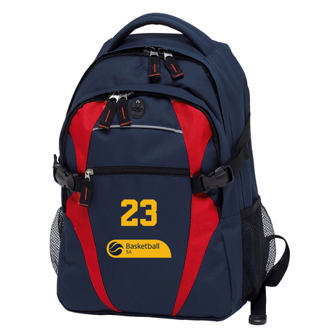 Basketball SA & SA Metro Players Backpack With Number