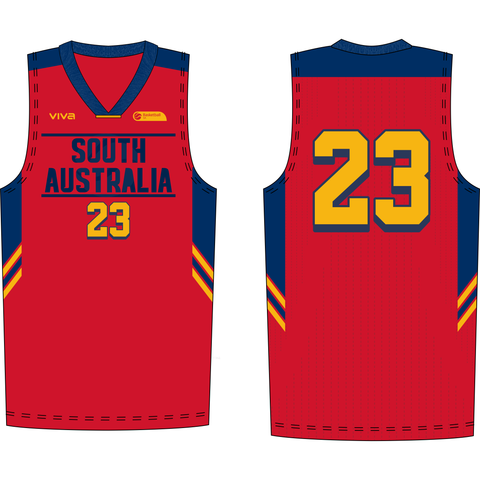 Basketball SA & SA Metro Players Singlet