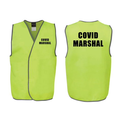 COVID-19 YELLOW MARSHAL HI VIS VESTS (QTY 1 - 10)
