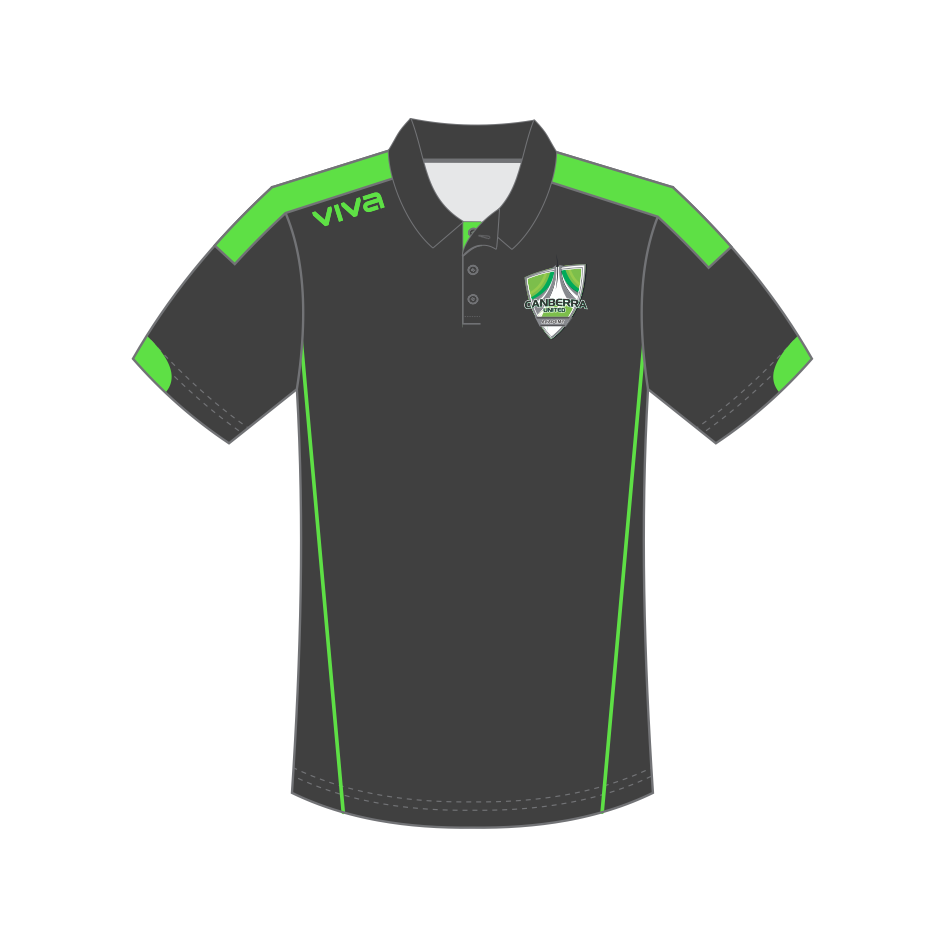Canberra United Academy Polo Shirt