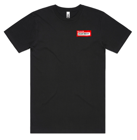 HELLOiM x WILLIAM TRUELOVE LIMITED EDITION BLACK TEE