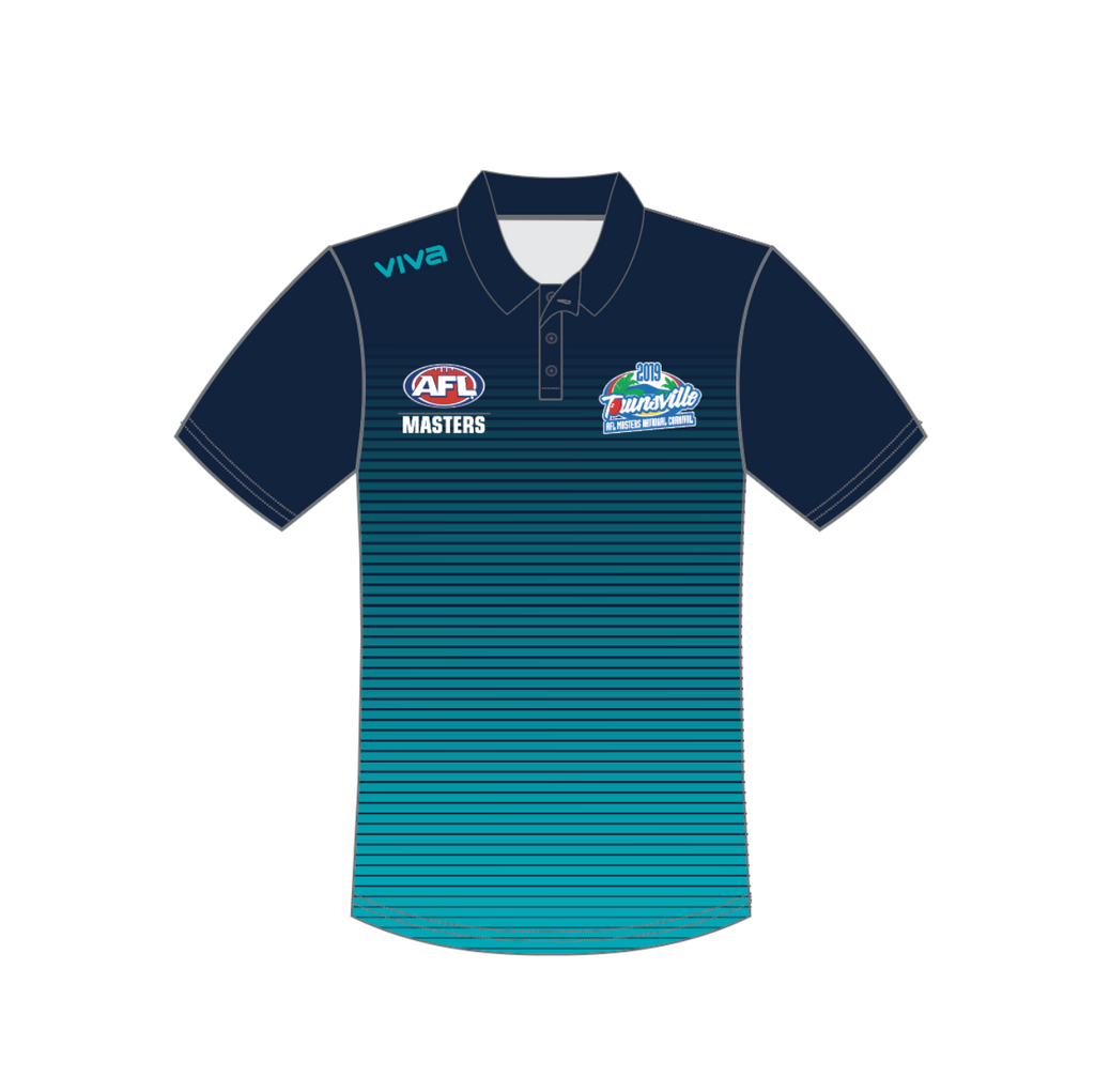 SUBLIMATED POLO - AFL masters Townsville 2019