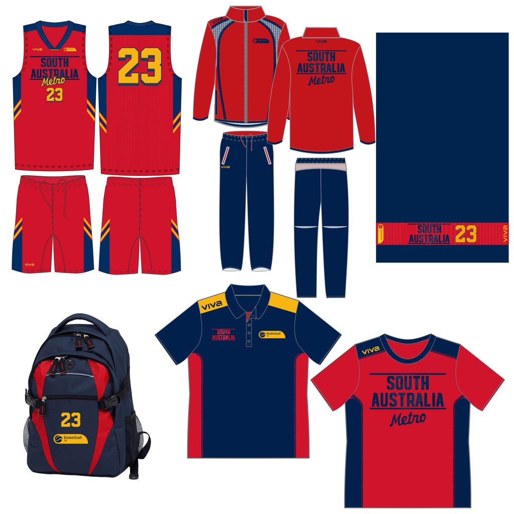Basketball SA - South Australia Metro U18 State Team NEW PLAYER Pack (Compulsory)