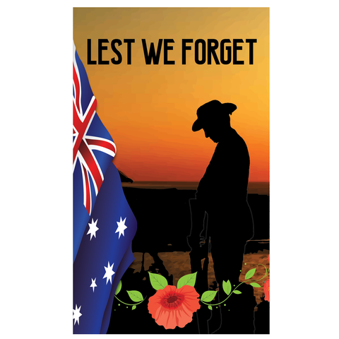 ANZAC DAY VERTICAL BANNER