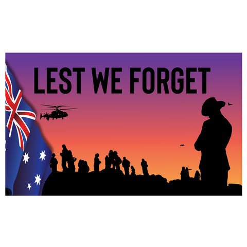 ANZAC DAY HORIZONTAL BANNER/FLAG 1
