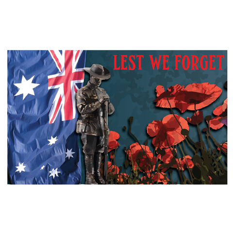 ANZAC DAY HORIZONTAL BANNER/FLAG 2
