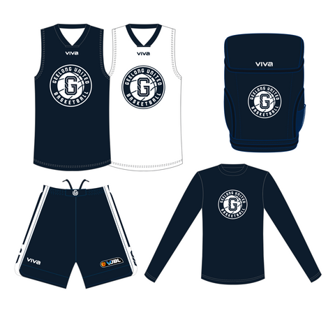 GEELONG UNITED BASKETBALL - VJBL PLAYERS PACK (COMPULSORY) WOMEN/GIRLS - - PLEASE SELECT SIZES FOR ALL PRODUCTS BEFORE CHECKING OUT.