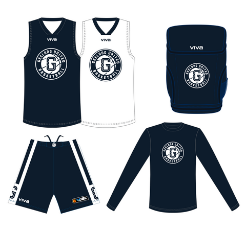 GEELONG UNITED BASKETBALL - VJBL PLAYERS PACK (COMPULSORY)- MEN/BOYS -  - PLEASE SELECT SIZES FOR ALL PRODUCTS BEFORE CHECKING OUT.