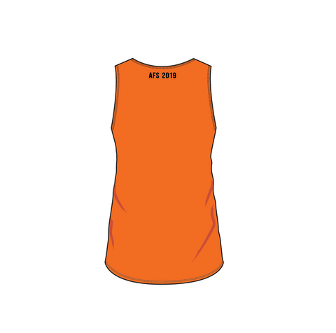AFS Shepparton 2019 Cup - GIRLS sleeveless top - ORANGE