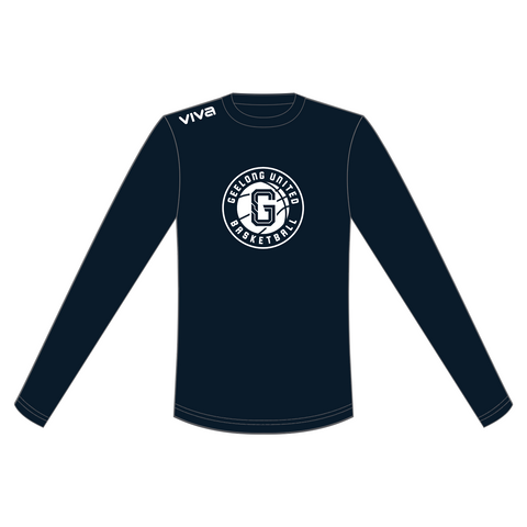 GEELONG UNITED BASKETBALL - WOMENS LONG SLEEVE WARM UP SHIRT