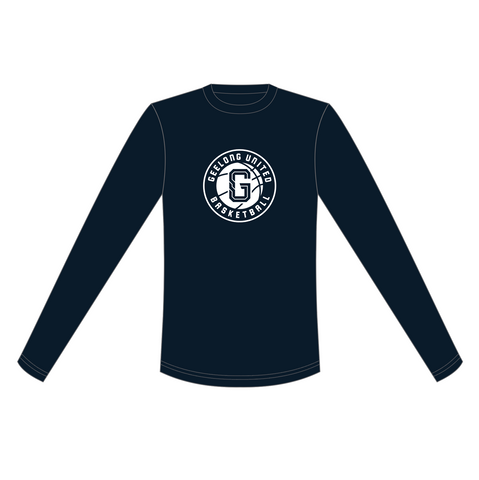 GEELONG UNITED BASKETBALL - JUNIORS & MENS PLAYING CASUAL LONG SLEEVES TEE-SHIRT