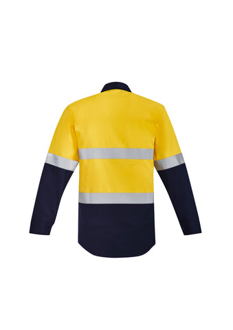 YELLOW/NAVY FLAME WORKWEAR SPLICED SHIRT