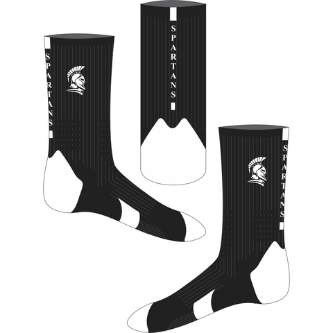 Southern Districts Spartans Basketball Association - Crew Socks - Black