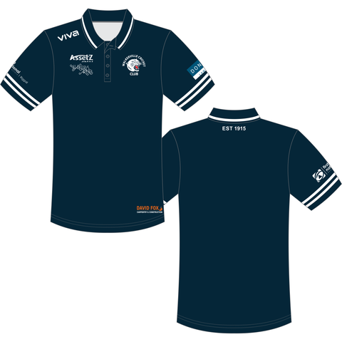 Walkerville Cricket Club - Juniors/Seniors Navy Polo