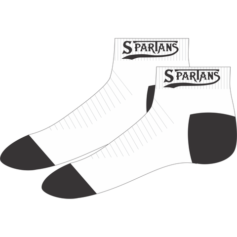 Southern Districts Spartans Basketball Association - Ankle Socks - White