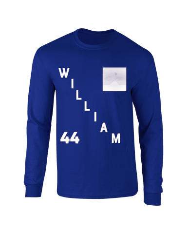 WILLIAM TRUELOVE LONG SLEEVE BLUE T-SHIRT