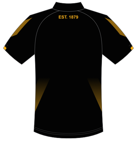 Aldinga FC - Custom Made Club Polo Shirt - Black | Gold (Available for Pre-Order)