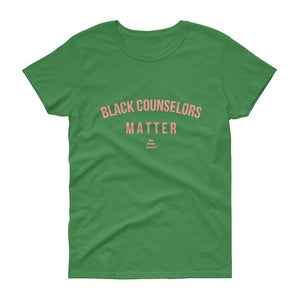 Black Counselors Matter - Women's short sleeve t-shirt