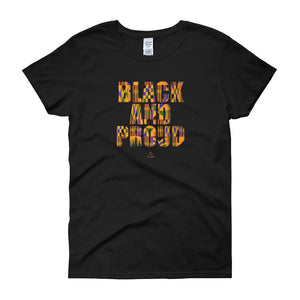 Black and Proud African Print - Women's short sleeve t-shirt