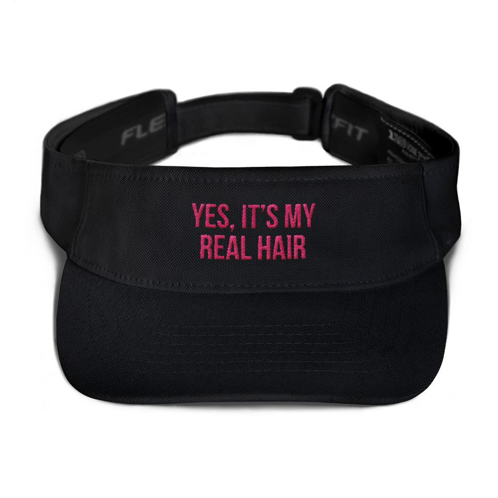 Yes, It's My Real Hair - Visor