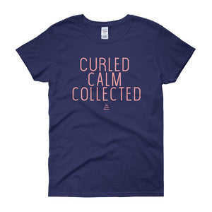 Curled Calm and Collected - Women's short sleeve t-shirt