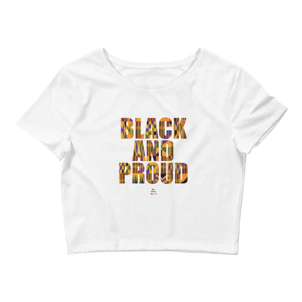 Black and Proud (African Print) - Crop Top