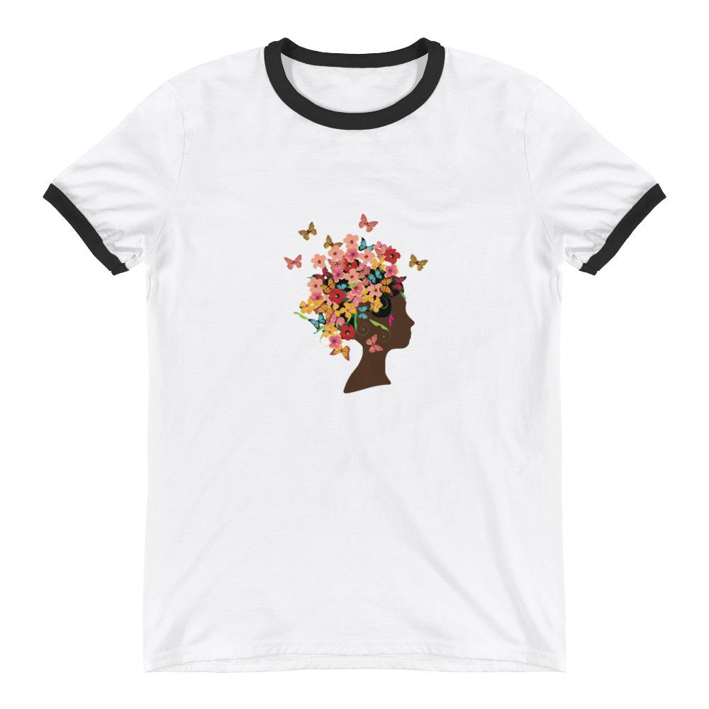 Butterfly Crown - Ringer T-Shirt