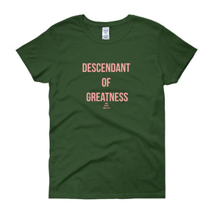 Descendant Of Greatness - Women's short sleeve t-shirt