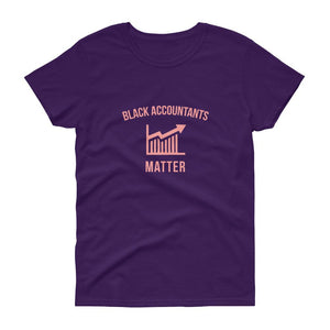 Black Accountants Matter (logo) - Women's short sleeve t-shirt