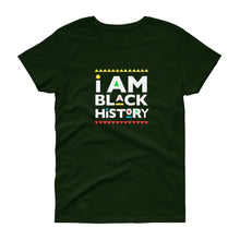 Load image into Gallery viewer, I Am Black History (Martin Font) - Women's short sleeve t-shirt