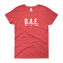 BAE Black and Educated (white) - Women's short sleeve t-shirt