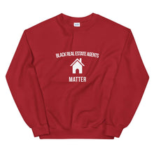 Load image into Gallery viewer, Black Real Estate Agents Matter - Unisex Sweatshirt
