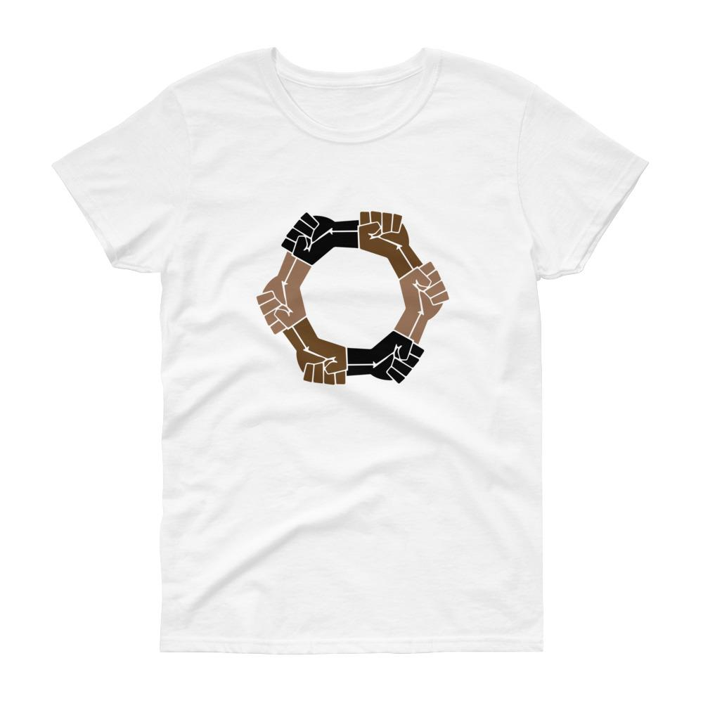 Linked Fists - Women's short sleeve t-shirt