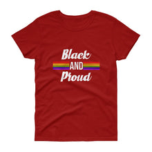 Black and Proud (Pride) - Women's short sleeve t-shirt