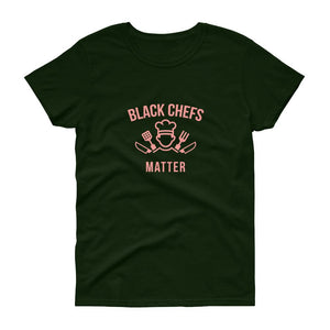 Black Chefs Matter (logo) - Women's short sleeve t-shirt