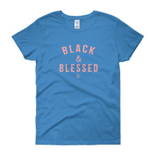 Load image into Gallery viewer, Black and Blessed - Women's short sleeve t-shirt