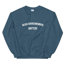 Load image into Gallery viewer, Black Servicemembers - Unisex Sweatshirt