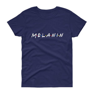 Melanin (Friends) - Women's short sleeve t-shirt