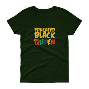 Educated Black Queen - Women's short sleeve t-shirt
